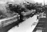 Once in Honesdale, the coal was offloaded from rail cars to waiting canal boats via coal chutes. From Honesdale to Rondout the coal would be carried 108 miles entirely on the canal.