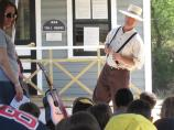 A Park Ranger dressed in period clothing for the Canal Day celebration.