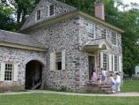 Visitors entering the front door to tour the interior of the home General Washington used as his headquarters. General Washington and the continental army spent the winter of 1777-1778 at Valley Forge.
