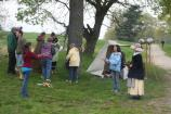 Visitors learn about 18th Century games.