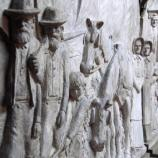Plaster relief used to create This is the Place monument.
