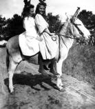 Cora and Friend on Donkey