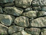A close view of one of the many stone walls at Weir Farm NHS.