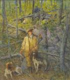Julian Alden Weir, Hunter and Dogs, n.d. oil on canvas 36 x 32 1/8 in. (91.5 x 81.6 cm)