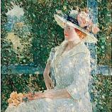 Childe Hassam, An Outdoor Portrait of Miss Weir, 1909, oil on canvas, 38 x 38 in.