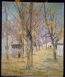 Julian Alden Weir. Connecticut Village (Going to School), after 1891, Oil on Canvas, 24 1/8 x 20 1/8 in.