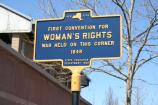 The State of New York formally recognized the Wesleyan Chapel as an important historical site by placing this sign in 1932.