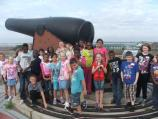 Ticket to Ride students on top of Fort Pickens.
