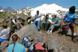 Group of students in alpine environment