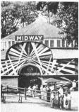 A sign above the doorway identifies a rounded amphitheater structure as the Midway.