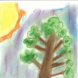 child's painting of a tree
