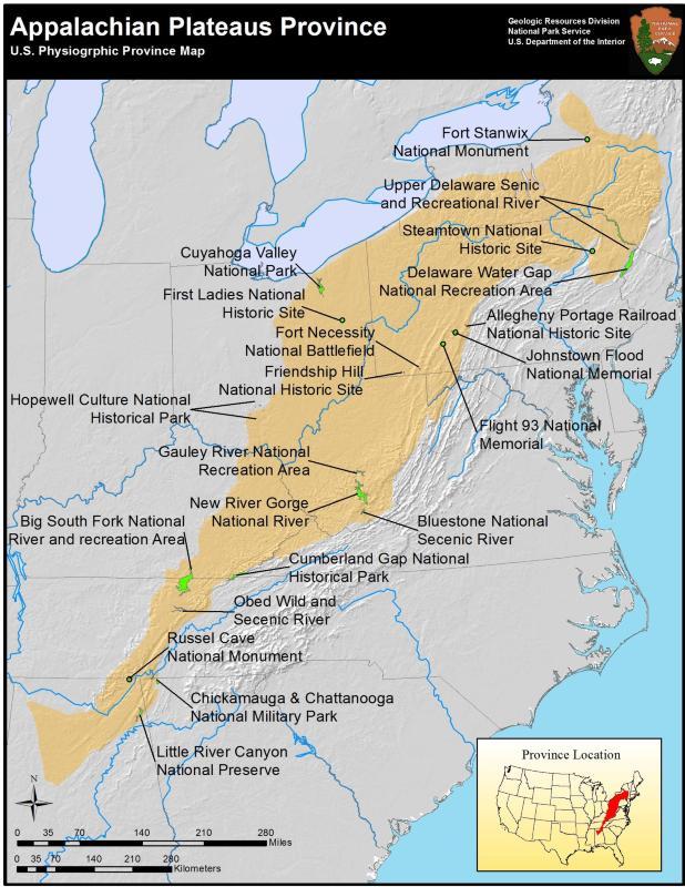 Appalachian Plateaus Province (U.S. National Park Service)