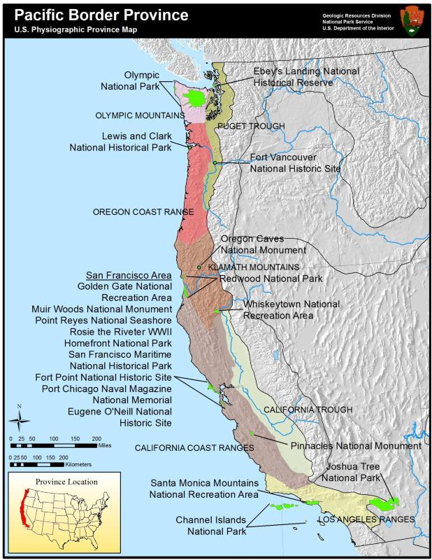 Map Of Pacific Border