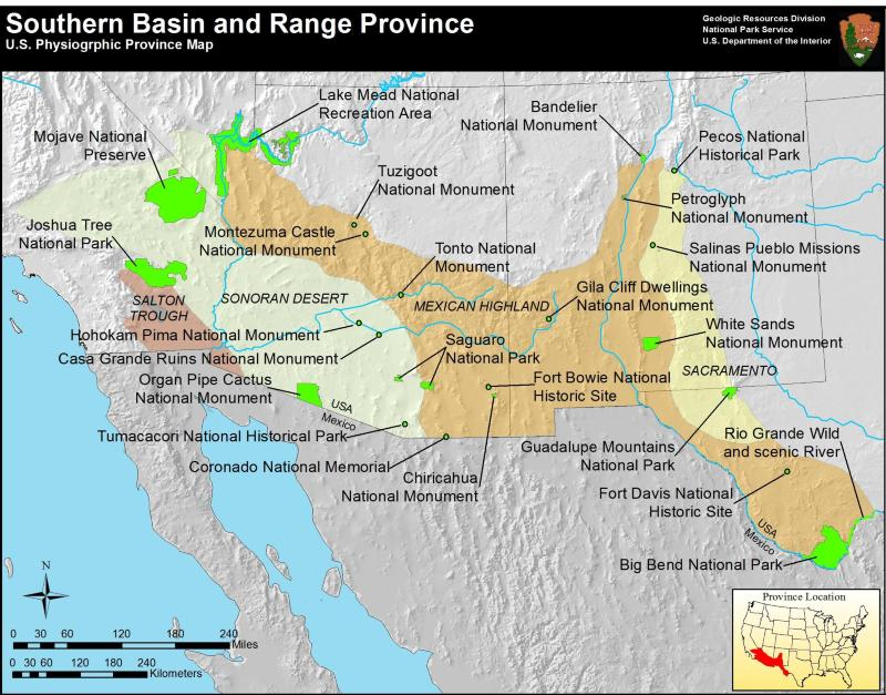 Basin and Range Province US National Park Service