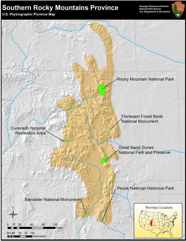 Rocky Mountain System US National Park Service - Map of us rocky mountains
