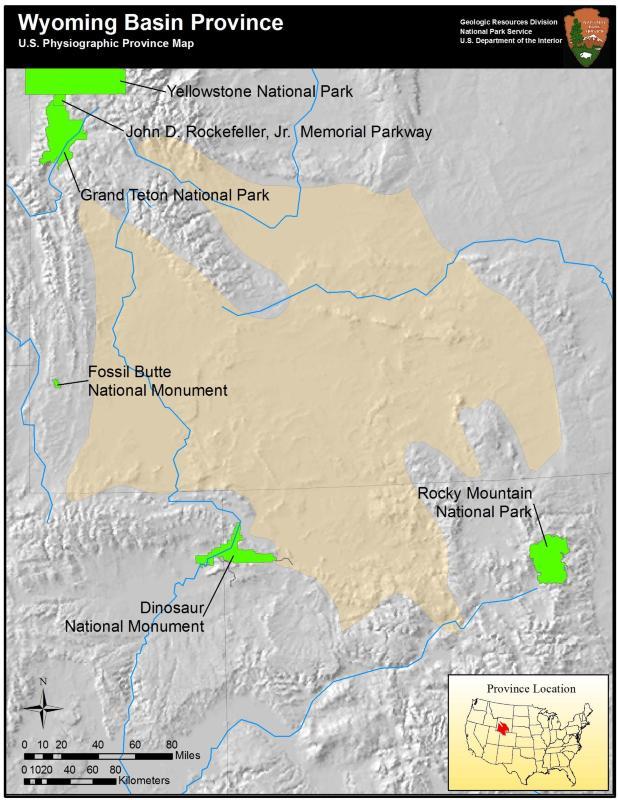 Rocky Mountains Wyoming Map.Rocky Mountain System Provinces U S National Park Service