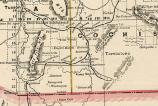 1887 railroad map of southeastern Arizona marking Calabazas on the rail line.
