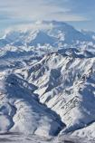 Denali and Range from Air Portrait