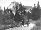 Roosevelt and Muir on Horseback, Yosemite