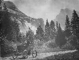 Holmes Brothers in Stanley Steamer, Yosemite
