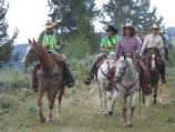 Lead Riders for the Chief Joesph Trail Ride enter Big Hole National Battlefield