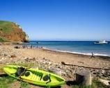 The sand and cobblestone beach at Scorpion Anchorage is one of the most popular in the park. Access to some of the best kayaking in the park is from this beach.