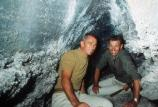 Apollo 14 astronauts Eugene Cernan and Joe Engle in Buffalo Cave.