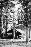 The Devils Postpile National Monument Ranger Station in 1934.
