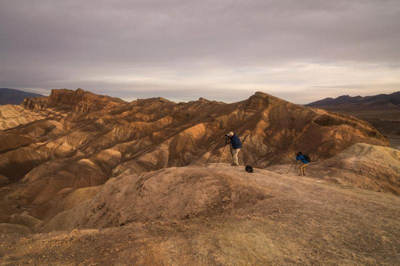 The view from Zabriskie Point and the badlands
