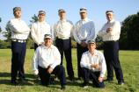 Members of the Occidental Base Ball Club pose for a photo before the game