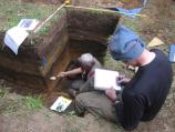 NCRI Archaeologists Greg Burtchard and Eric Gleason excavate at Mount Rainier National Park