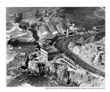 Aerial of the third Cliff House and the Sutro Baths. A shipwreck can also be seen in the upper left corner of the picture. Date Unknown.
