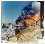 Sutro Baths burning, 1966.