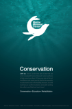 Poster 3 of the Marine Mammal series by New Media Designer Justin Dilbeck.