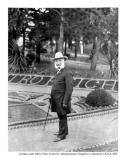 Adolf Sutro poses for a picture in Sutro Heights