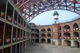 The Court of Fort Point, the light house and the foot of Golden Gate Bridge