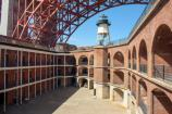 The court of Fort Point and the lighthouse