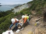 Batteries to Bluffs trail construction