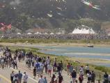 50,000 people gather for the Grand Opening of Crissy Field to the public.