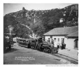 Mount Tamalpais Railroad leaving the top of the mountain station, date unknown.
