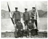 Philip Altshul and detail from 64th Company CAC from Fort Scott taken on roof of Fort Point in 1915.