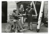 Fort Point interpretation with ranger in wheelchair. Vicki White, Gretchen Feiker (?), c. 1979-1980.