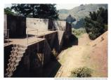 Looking west along stairs, Battery Orlando Wagner, Fort Baker, 1991.