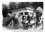 Coast Artillery band practicing at one of the Fort Scott Batteries, date unknown
