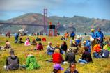The community at Crissy Field