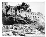 View of the Alcatraz Main Cell Block from the West side, c1935-1960