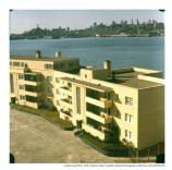 Alcatraz Staff Apartments B and C off the parade ground, c1960