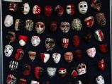 Photo of masks created by students that participated in the Unlocking Alcatraz education program in 2002.