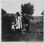A small group of children in the hills around Fort Baker, c.1905