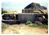 """Burned out FC station, Bonita Hill, Fort Barry, spring 1991."""